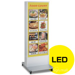 LED式電飾スタンド看板 ADO-900NE-LED-S6 シルバー 高さ1800mm