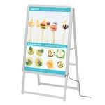 A型看板 LEDグリップA B1サイズ 仕様/カラー:片面/シルバー (39412***)