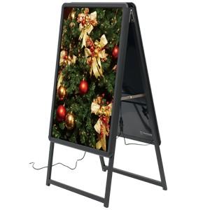 A型看板 LEDグリップA B1サイズ 仕様/カラー:両面/ブラック (39413BLK)
